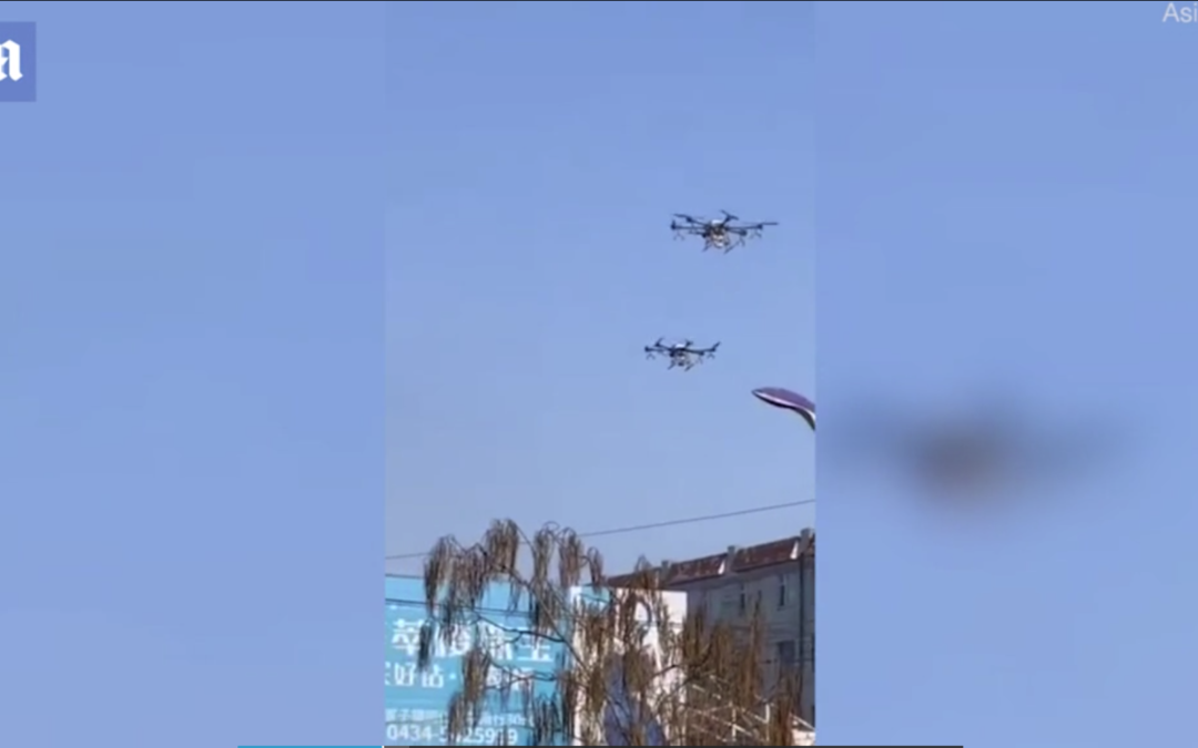 China's drone army fighting coronavirus: Farm, police and personal drones are repurposed to spray disinfectant over villages and cities hit by killer virus